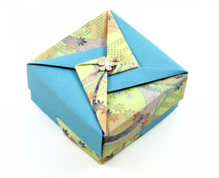 A little embellishment, like this paper flower, can bring a box to life