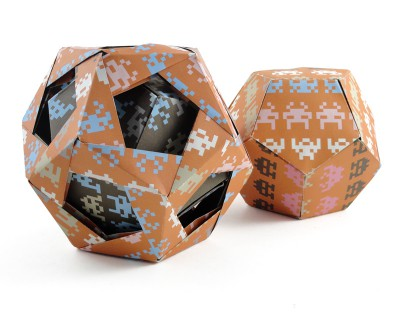 The pair of dodecahedrons side by side